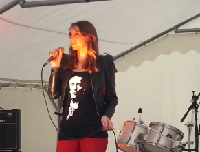 Fre,ch singer Céline Schmink Festival Rock and blues Champagne