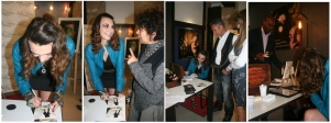 French songwriter Céline Schmink signing autographes