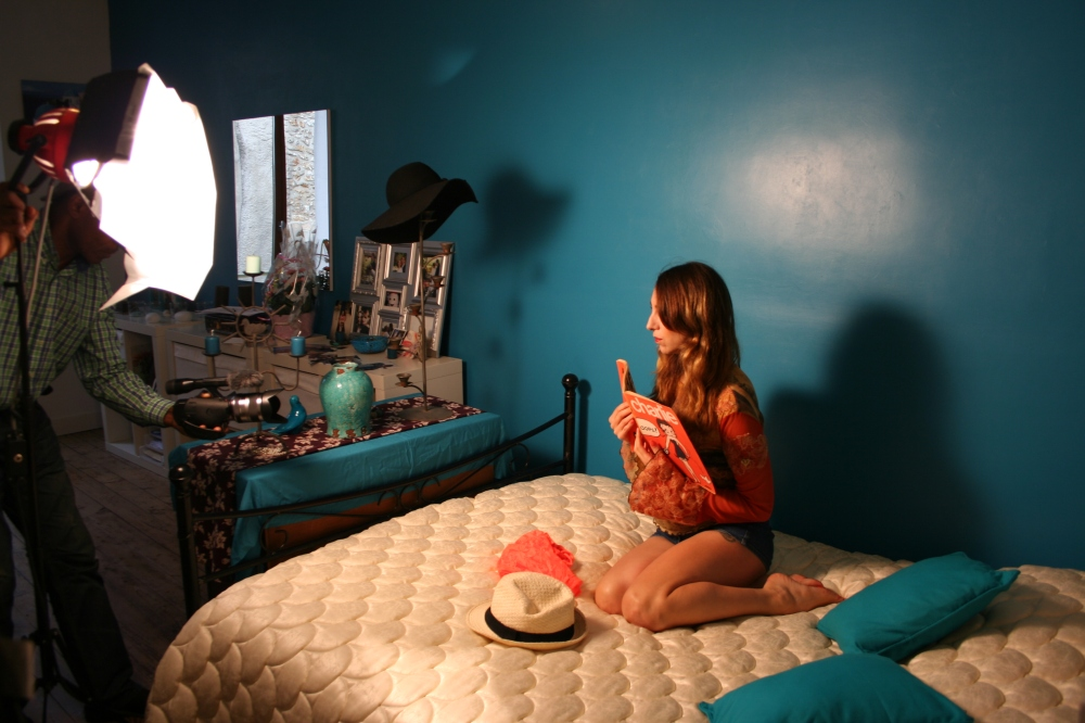 Céline Schmink sur le tournage de Your breath